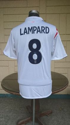 ENGLAND WORLD CUP 2006 QUARTER-FINALS LAMPARD SHIRT .. visit... www.vintagesoccerjersey.com England World Cup 2006, Vintage Jerseys, Football Jerseys, Jersey Shirt, Finals, Classic, Stuff To Buy, Shirts, T Shirts