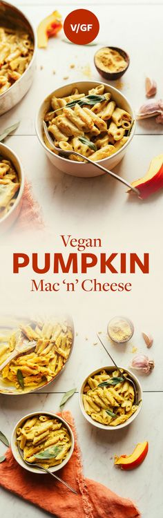 AMAZING Pumpkin Mac 'n' Cheese! 10 ingredients, cheesy, hearty, SO delicious! #vegan
