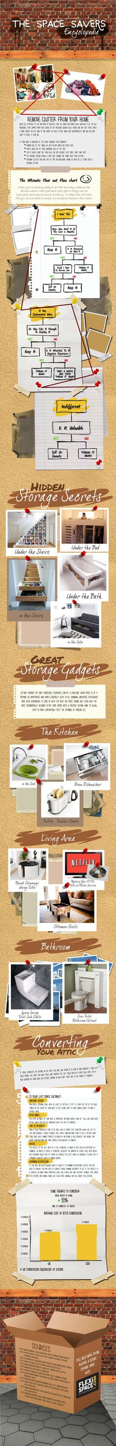 Declutter With The Space Savers Encyclopedia Infographic