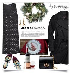 """""""say yes"""" by theworldisatourfeet ❤ liked on Polyvore featuring Boden, French Connection, Coach, Improvements, Mark & Graham, Gucci, minidress, polyvoreeditorial, HolidayParty and polyvorefashion"""