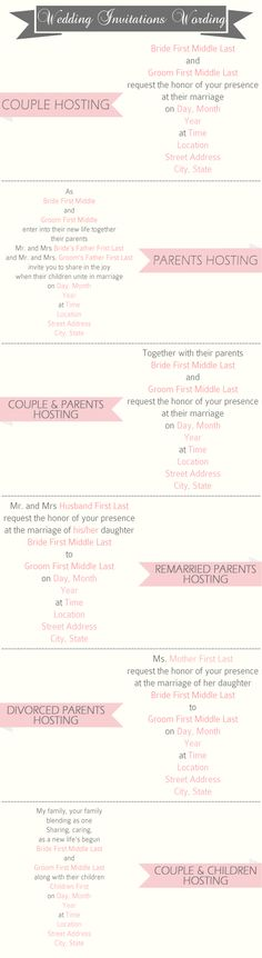 great wedding invitation wording samples for different hostings