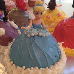 Cinderella cupcake for Kaylee's 2nd birthday!