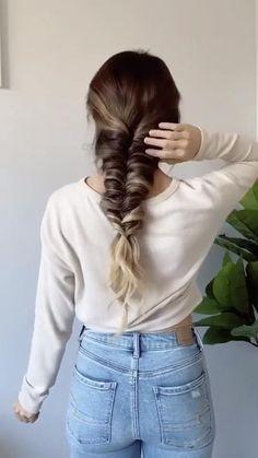 Braided Hairstyles For Black Women Cornrows, Easy Hairstyles For Long Hair, Braids For Short Hair, Short Hair Styles, Hairstyle Ideas, Easy Hair Braids, Easy Hairstyles Tutorials, Hairstyles For Women, Girl Hairstyles