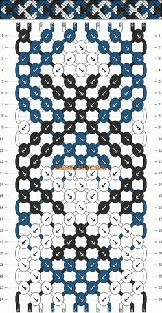 Chain links friendship bracelet pattern number #3061 - For more patterns and inspiration visit our web or the app!