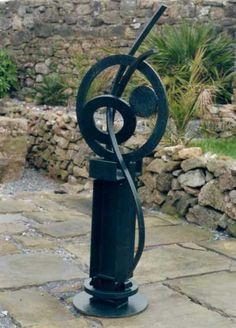 Welded mild steel Inorganic , sculpture by artist Terry Ryall titled: 'Moondance (abstract modern steel sculptures)' #sculpture #art