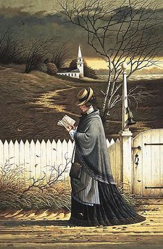 Charles Wysocki, 1928-2002, born in Detroit, Michigan.