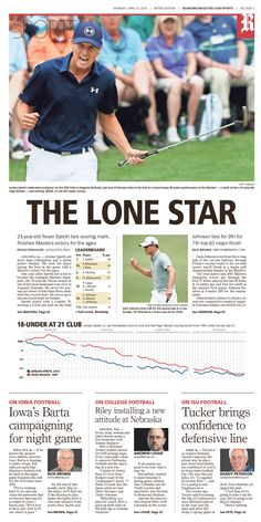 News design: April 13 Des Moines sports cover.