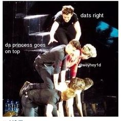 Da princess goes on top lol yes yes you do Louis!!