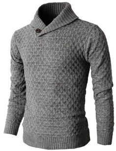 2fc8f1910d669 Mens Causal Knit Pullover Sweater With Hexagon Pattered Long Sleeve