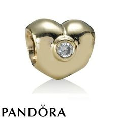 Pandora 14ct Diamond Heart Charm 79263 #fashionjewelry