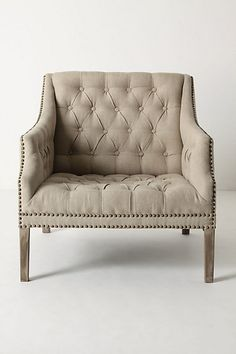 Not very kitty friendly, but I love it!  Benson Chair #anthropologie