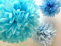 Princess party decorations  Paper pompoms  Cinderella  by pomtree, $12.00