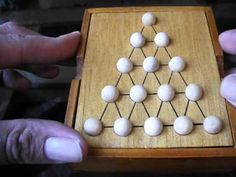 Desafia tu mente solitario triangular (32) - YouTube Wood Games, Wood Joinery, Ideas Para, Woodworking Projects, Triangle, Toys, Youtube, Blog, Wooden Toy Plans