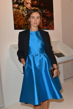 "Kasia Smutniak wearing a Valentino dress at the ""Objects of Couture"" book signing in Paris, on October 1st 2013"