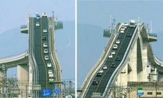 5 Craziest Bridges of The World These bridges will scare the shit out of you. These are some of the craziest bridges in the world. High Bridge, Roller Coaster, Golden Gate Bridge, Cool Pictures, Funny Pictures, Beautiful Places, Beautiful Sites, Beautiful Scenery, Weird