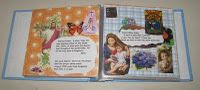 Homemade Children's Prayer Books -made from mini scrapbooks, saved religious and nature pictures and  prayers printed off the internet.