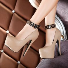 New Fashion PU Ankle Straps Prom Shoes
