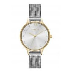 Skagen Women's Anita Two-Tone Watch Case Size: Band Width: Water resistant: 3 ATM Closure: Safety Mesh Buckle Limited Lifetime Warranty Skagen Watches, Big Watches, Best Watches For Men, Ladies Watches, Stylish Watches, Mesh Bracelet, Metal Bracelets, Mesh Armband, Junghans