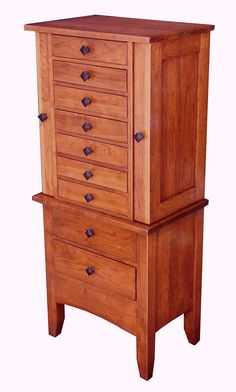 Jewelry Armoire in Cherry