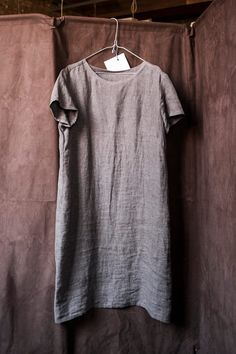 Merchant & Mills Camber Set dress in silt grey linen