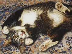 Kitten laying on the floor - Cats Wallpaper ID 1402324 - Desktop Nexus Animals