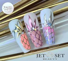 Fruit Nail Designs, Gel Designs, Cool Nail Designs, Beautiful Nail Art, Gorgeous Nails, Pretty Nails, Shellac Nails, Diy Nails, Barbie Drawing