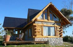 Cabin Plans With Loft, Log Home Plans, Tiny Log Cabins, Log Cabin Homes, Cottages And Bungalows, Cabins And Cottages, Rest House, House In The Woods, Log Home Designs