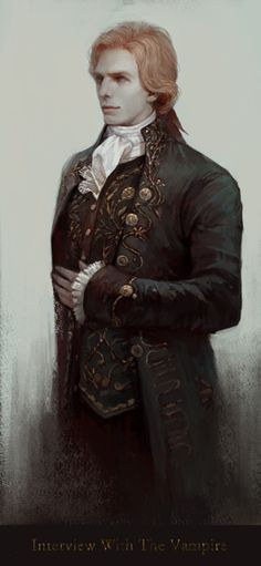 """The character """"Lestat"""" in the Anne Rice books. The brat Prince, my favourite vampire of all time. This is based on Tom Cruise's performance in The Interview With The Vampire. Vampire Love, Vampire Art, Diesel Punk, Dracula, Psychobilly, Lestat And Louis, Estilo Dark, The Vampire Chronicles, Interview With The Vampire"""