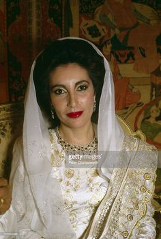 "Benazir Bhutto. 5'7"". Pakistani politician, stateswoman, and 11th Prime Minister of Pakistan, Benazir Bhutto (1953 - 2007) in Larkana, Pakistan, circa 1988. #Benazir #Bhutto #BenazirBhutto"