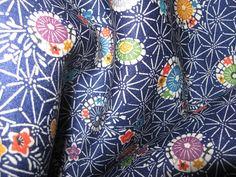 Stoffe gemustert - Kimonoseide DIY, MATERIAL, Asanoha, Schirme - ein Designerstück von nokimo-kimonos-kelims-webart-unikate bei DaWanda