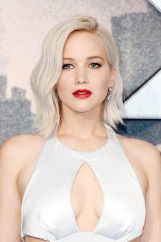 Icy Blonde, Cool Blonde, Shades Of Blonde, Blonde Waves, Blonde Hair For Cool Skin Tones, Jennifer Lawrence Blonde, Look Boho Chic, J Law, Blonder Bob