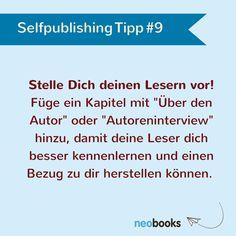 Gib den Lesern die Möglichkeit, dich als Autor kennen zu lernen.