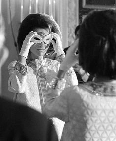 Lee Radziwill at Truman Capote's Black and White Ball. The Plaza Hotel, New York.