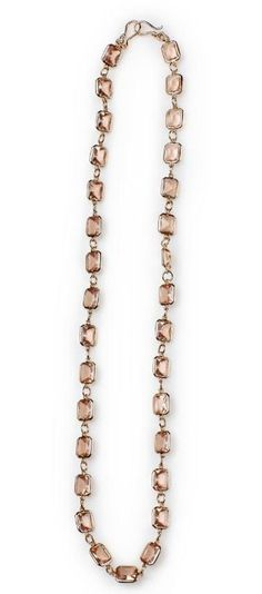 """Delicate- 32.75"""" Delicate coral gems wrapped in gold facets add a touch of class and color. $52 #delicate #yourstylemialisia"""