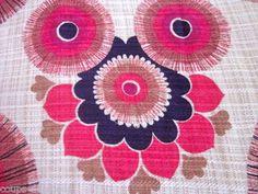 #vintage 1970s curtain fabric