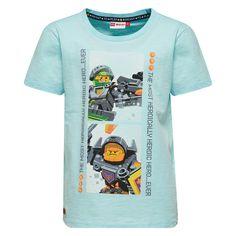 Licht grijze jongens tshirt TEO van het merk Legowear. Dit is een tshirt met een ronde hals en korte mouwen. Dit is een shirt van de reeks Lego Knexo Knights - Hero