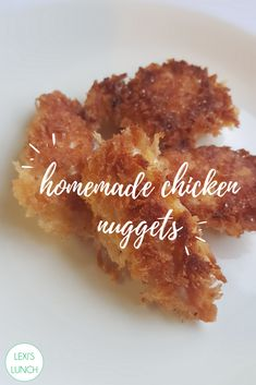 We made our own homemade chicken nuggets to show just how quick and easy it is. Homemade Chicken Nuggets, Chicken Nugget Recipes, Panko Crumbs, Lunch, Easy, Eat Lunch, Lunches