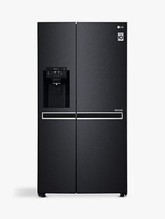 Buy LG American-Style Freestanding Fridge Freezer, A+ Energy Rating, Wide, Non-Plumbed Water and Ice Dispenser, Matte Black from our Fridge Freezers range at John Lewis & Partners.