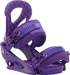 Burton Stiletto Womens Snowboard Bindings 2016    For a soft, smooth and secure binding the Burton Stiletto Snowboard Bindings are a great option. The Stiletto features womens-specific True Fit design down to the stitch to fully accommodate a woman's leg and foot. The Single-Component Canted highback is supportive and comfortable and with MicroFLAD you'll be able to fine tune the fit without the use of any tools. Lushstrap keeps your heel locked and conforms to your boot and the Primo…