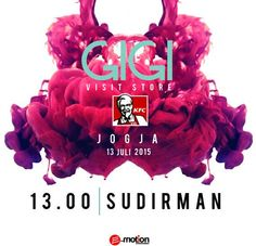 #AgendaYOGYAKARTA Hai GigiKita Jogja!!  Jangan lewatkan ya - HARI INI!! 13 Juli 2015 - Pukul 13:00 WIB @gigi_band akan Visit Store di KFC Wisma Hartono Sudirman, #jogja @GIGIkita_Jogja  Jangan sampai terlewatkan ya!! Info: www.gigionline.com  #agendakota #jogja #MusicConcert #music #concerts #LiveInConcert #sudirman #AgendaYogyakarta #AgendaMusic #kfc