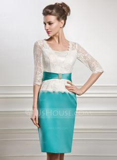 Knee length mother of the bride dress with beading 008056887 the