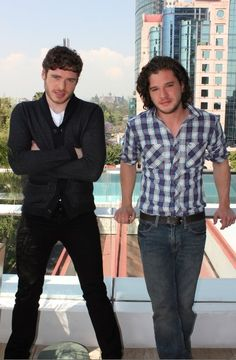 Kit Harington AND Richard Madden!!!  TOGETHER!!!    ......i want this for Christmas.  Please and thank you! :-)