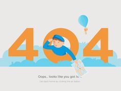 "Hi, guys! Made this 404 page for an upcoming delivery app.  Press ""L"" if you want this guy to get out :)"