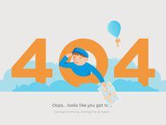 Stunning 404 error page animation