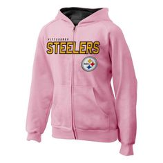Pittsburgh Steelers Youth Stated Full Zip Pink Hoodie - Official Online  Store 20514f639