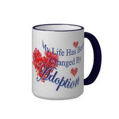 Adoption Changes Life Coffee Mug! - #adoptionmug #adoption