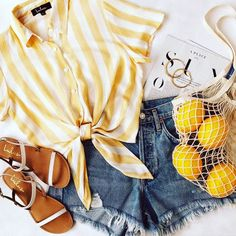 How to wear fall fashion outfits with casual style trends Cute Summer Outfits, Cute Casual Outfits, Spring Outfits, Vintage Summer Outfits, Hot Weather Outfits, Shorts Outfits For Teens, Cute Summer Clothes, Summer Clothing, Outfit Summer