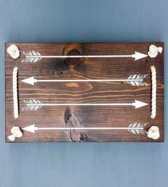 Wood Arrow Serving Tray by Coffee Diem Dry Goods on Scoutmob Shoppe