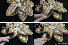 Häkeln, Crochet: Stern-Topflappen, Star Pot Holder