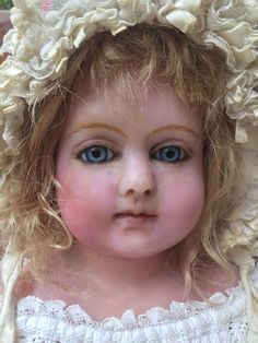 A Fabulous Big Chunky Charles Marsh Poured Wax Child Doll, English from tracie-vallis-dimples--and--sawdust on Ruby Lane